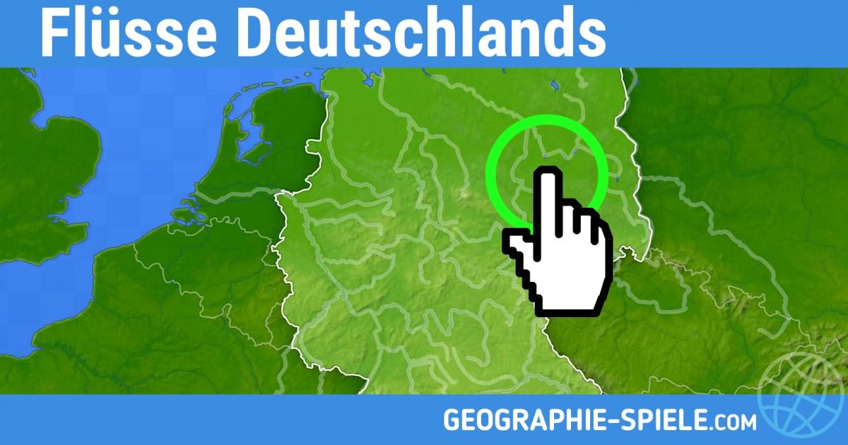 geographie-spiele.com geographie spiele Flusse Deutschlands